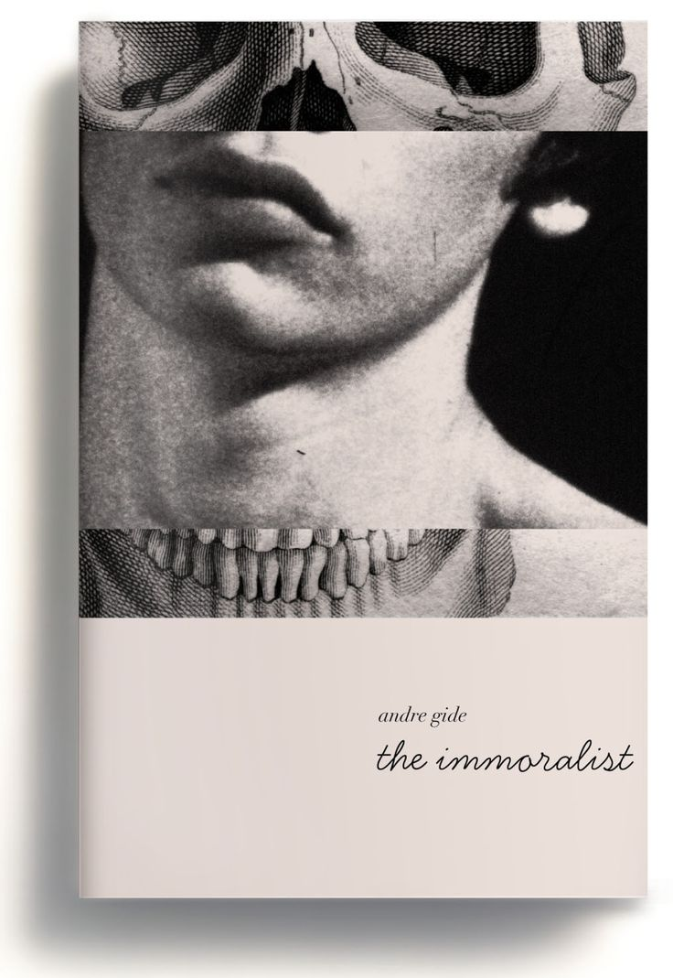 The Immoralist- this cover focuses on imagery with a more subtle style to the…