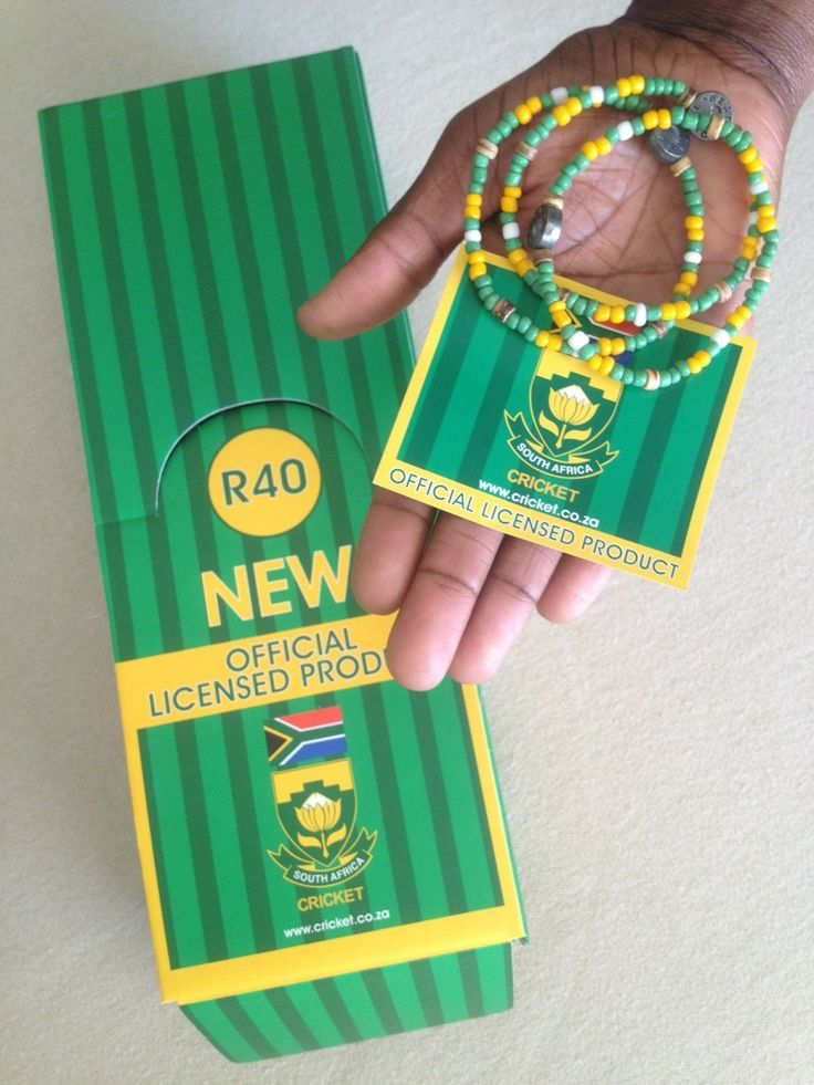 New official Cricket SA supporters bracelet available online www.beadcoalition... R40 each