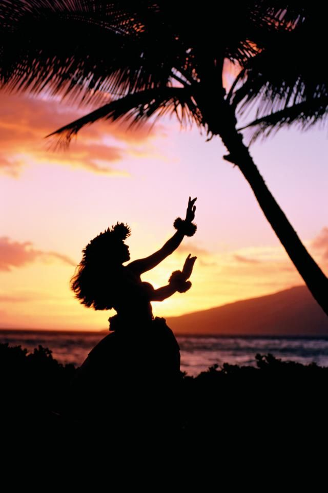 Hula during sunset  Hawaii is a beautiful state