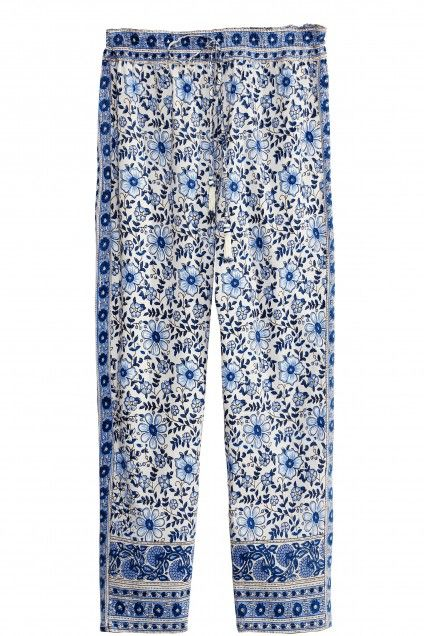 Auralee Block Printed Cotton Pant  | Calypso St. Barth