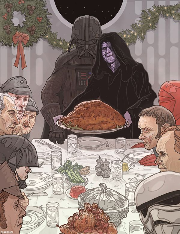 Star Wars, Game of Thrones, and other geeky Christmas Cards from PJ McQuade