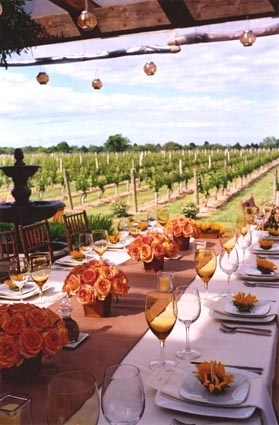 A Vineyard Wedding at Wölffer Estate Vineyard in Sagaponack, New York. On Long Island in the Hamptons.