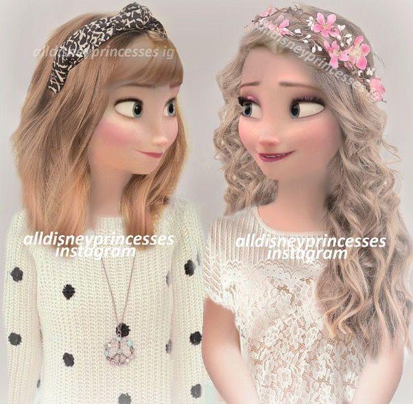 Elsa et sa soeur modernes