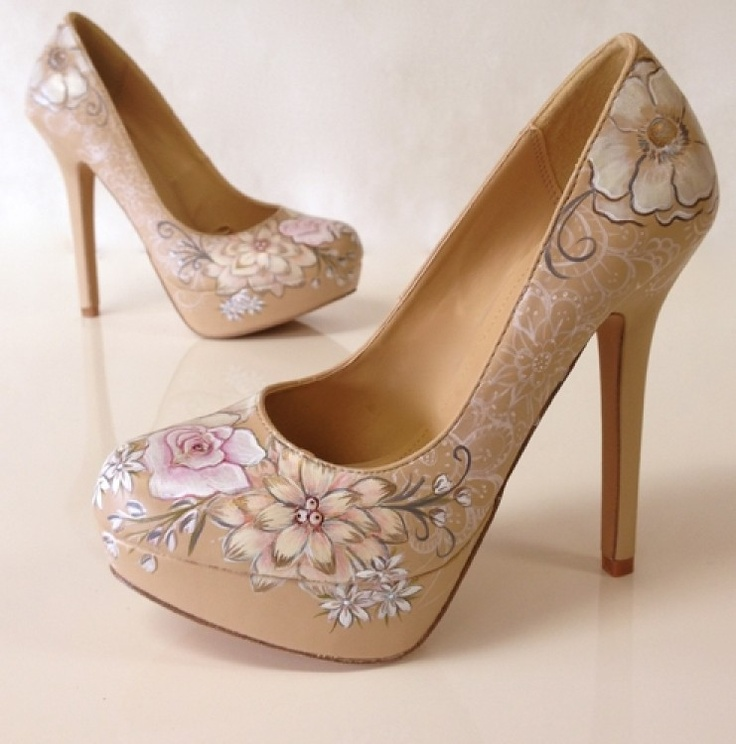 Hand painted shoes by Hourglass