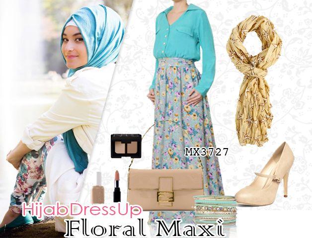 Hijab Dress Up #Floral #Maxi