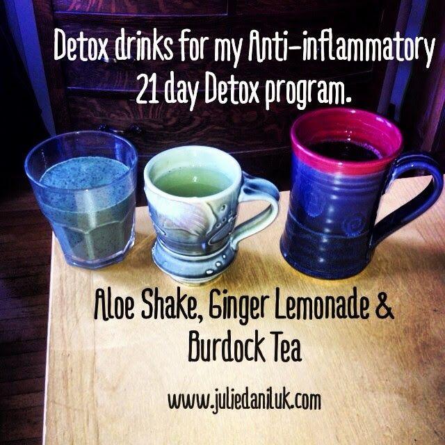 Test driving all my #detox #drinks for my #antiinflammatory 21 day #detox program. #an #aloe #shake #ginger #lemonade & #burdock #tea - #Tod...