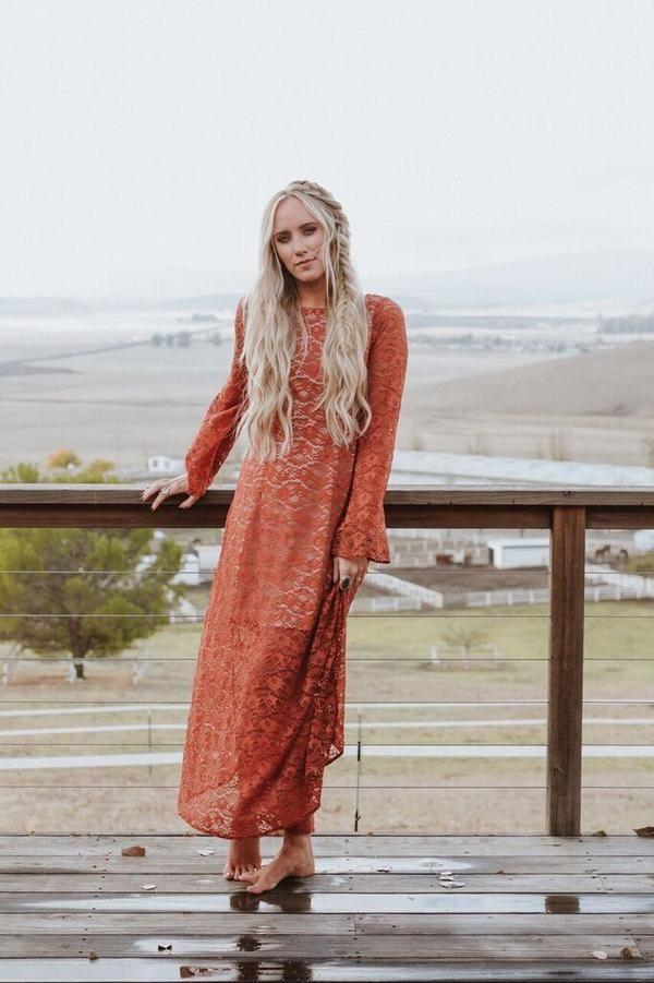 13++ Burnt orange maxi dress ideas information