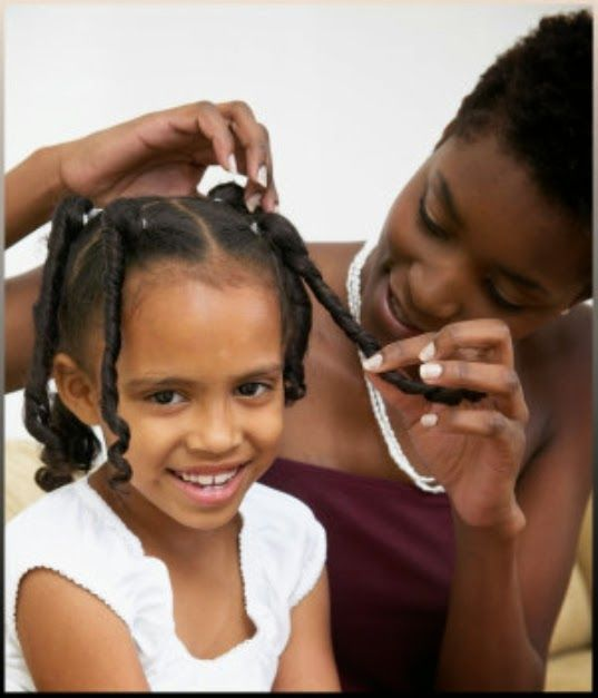 Little Girl Ponytails African American