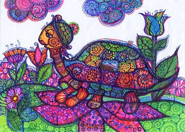 Przechadzka żółwia