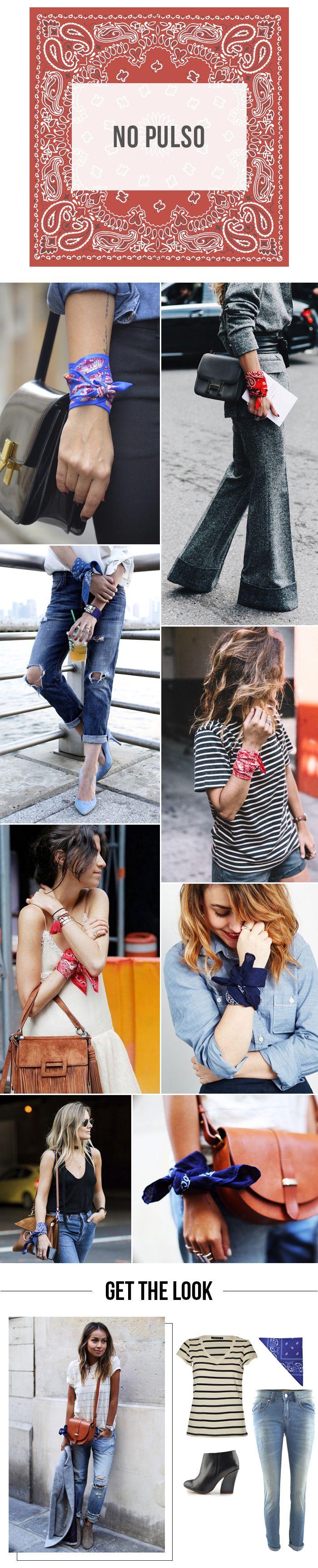 Bandana Lovers! | Como usar bandanas no pulso. | 4 jeitos de usar a sua bandana! #moda #look #outfit #getthelook #inverno #tendência #streetstyle #style #estilo #dicas #ootd #blog #lnl