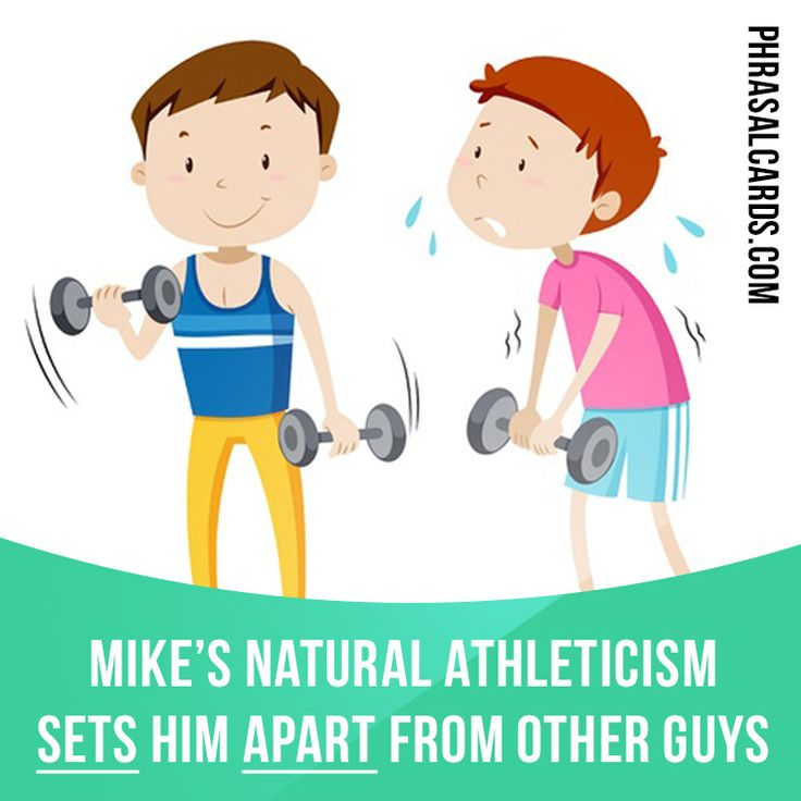 """""""Set apart"""" means """"to distinguish, to be better than or different from others"""". Example: Mike's natural athleticism sets him apart from other guys. #phrasalverb #phrasalverbs #phrasal #verb #verbs #phrase #phrases #expression #expressions #english #englishlanguage #learnenglish #studyenglish #language #vocabulary #dictionary #grammar #efl #esl #tesl #tefl #toefl #ielts #toeic #englishlearning"""