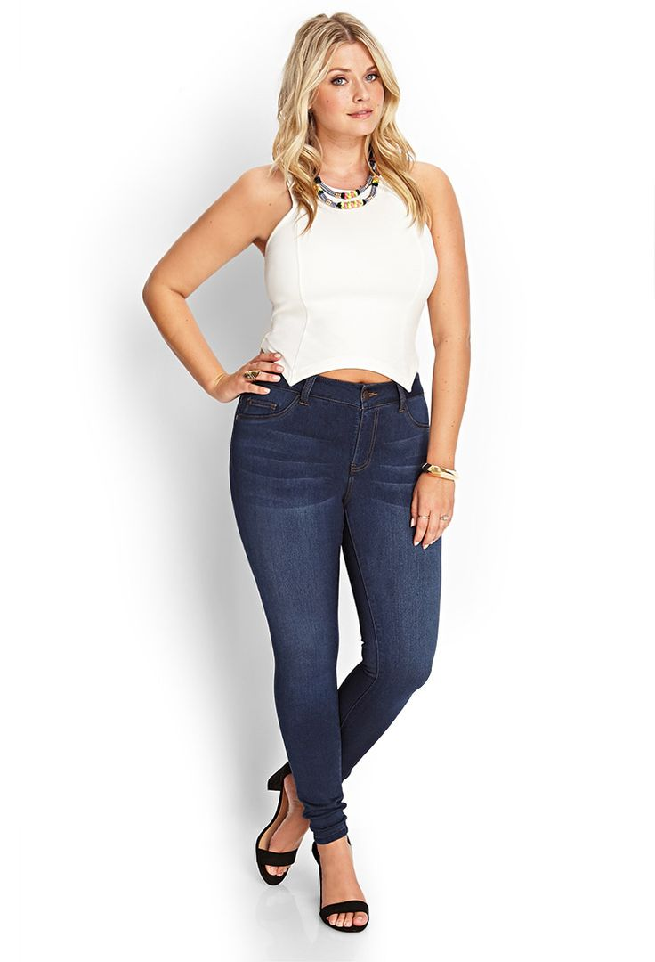 Classic Wash Skinny Jeans   FOREVER21 #F21Plus #Denim
