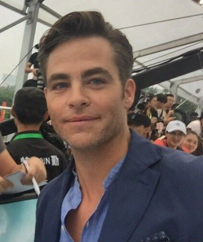 Chris Pine, promoting WW