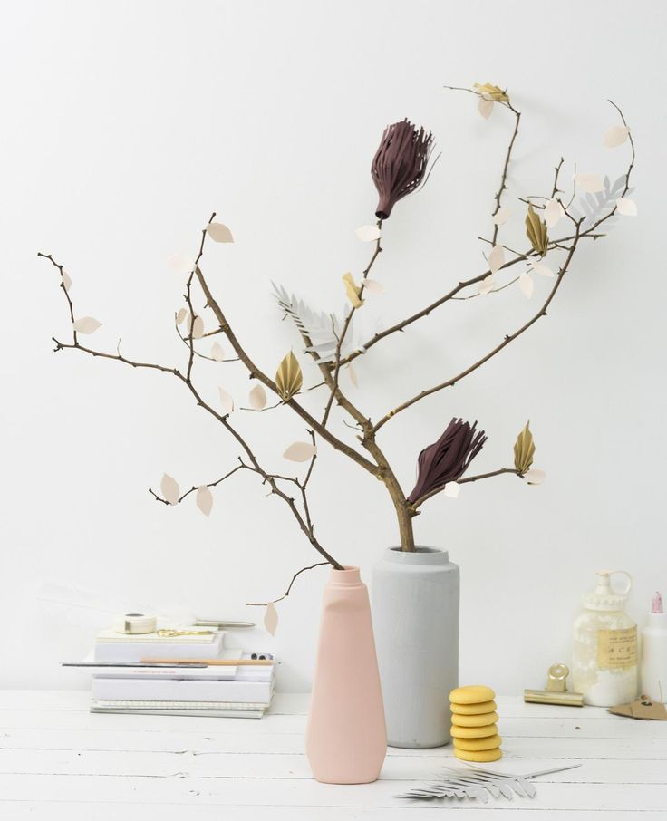 DIY paper flower branches