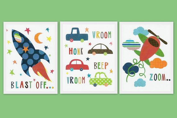 Nursery Art Prints Children Room Decor Kids Wall Art