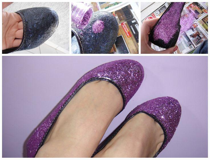 Tutoriais para Renovar Sapatos Velhos - http://coisasdamaria.com/tutoriais-para-renovar-sapatos-velhos/
