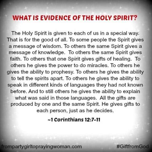 """Speaking in tongues is NOT the only evidence that you are baptized in the Holy Spirit my brothers and sisters!   """"Speaking in tongues is nowhere presented as something all Christians should expect when they receive Jesus Christ as their Savior and are therefore baptized in the Holy Spirit. In fact, out of all the conversion accounts in the New Testament, only two record speaking in tongues in that context. Tongues was a miraculous gift that had a specific purpose for a specific time. It was…"""