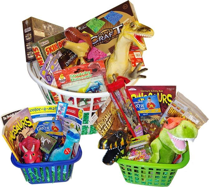 150 best easter baskets images on pinterest easter ideas easter nothing but dinosaurs dinosaur themed gift baskets negle