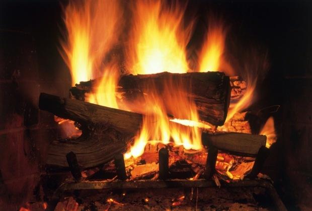 A cozy fire...