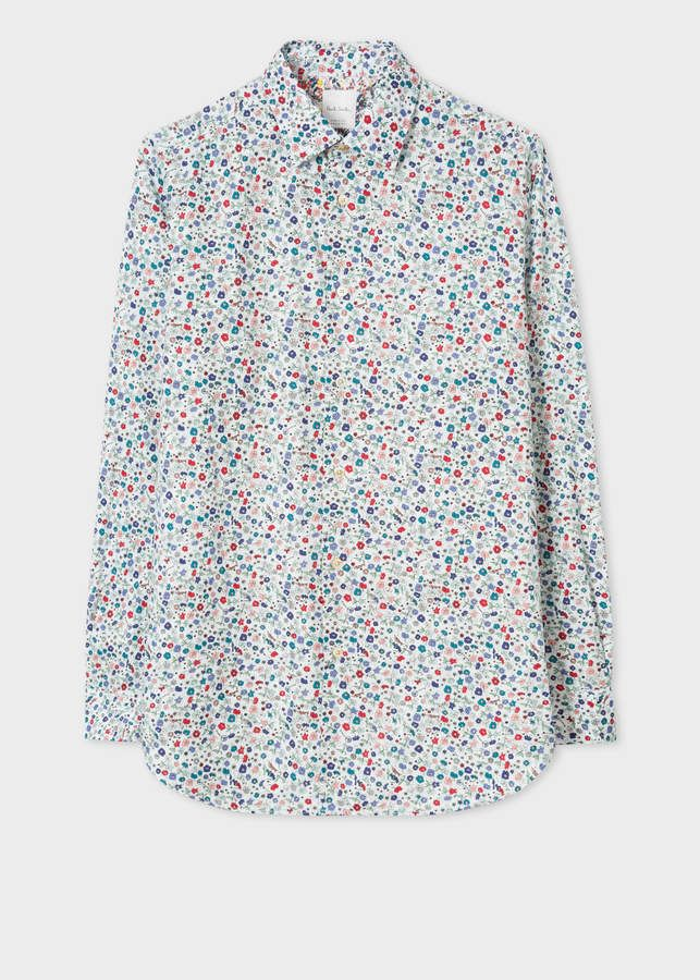 bee52c8f Paul Smith Men's Classic-Fit 'Music Floral' Print Shirt With 'Artist  Stripe' Cuff Lining