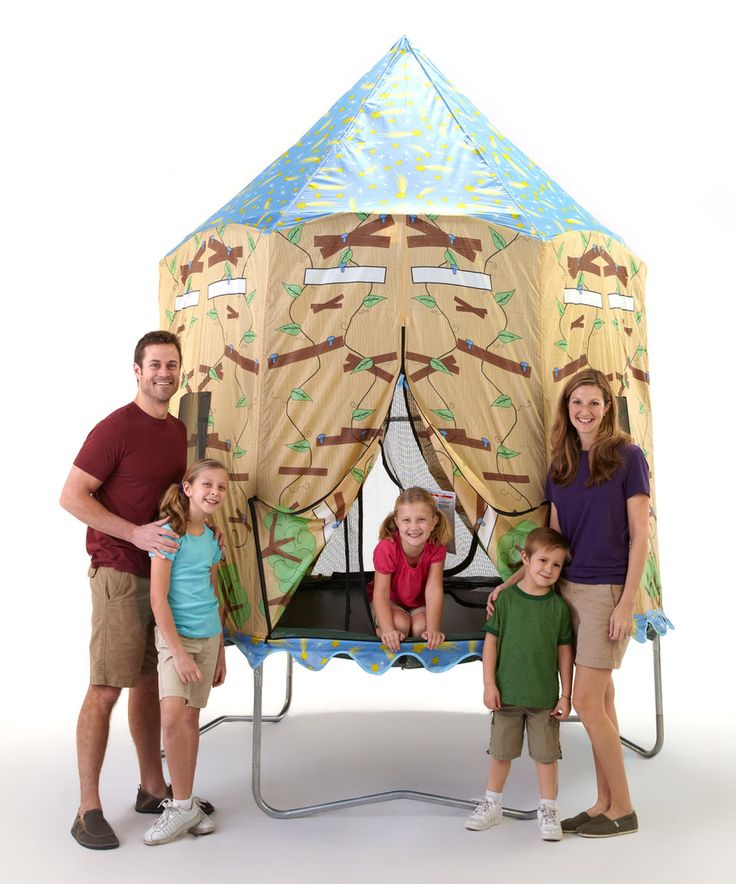 Bazoongi Tree House 7.5u0027 Tr&oline Tent by Bazoongi  sc 1 st  Pinterest & The 25+ best Trampoline tent ideas on Pinterest | Trampoline ...
