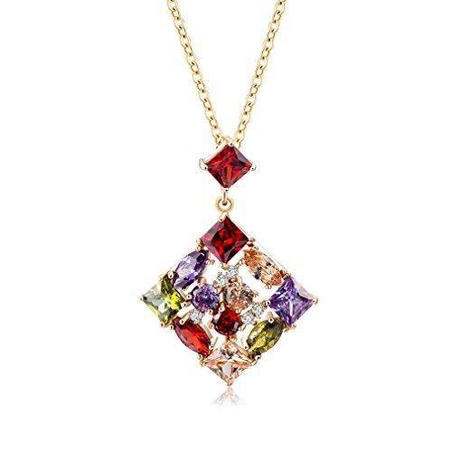 Oferta: 1.72€ Dto: -70%. Comprar Ofertas de YAZILIND 18K Joyeria De Oro De La Cadena De Cristal Brillante Colgante De Cristal Brillante Cubicos De Zirconia Incrustado Ex barato. ¡Mira las ofertas!