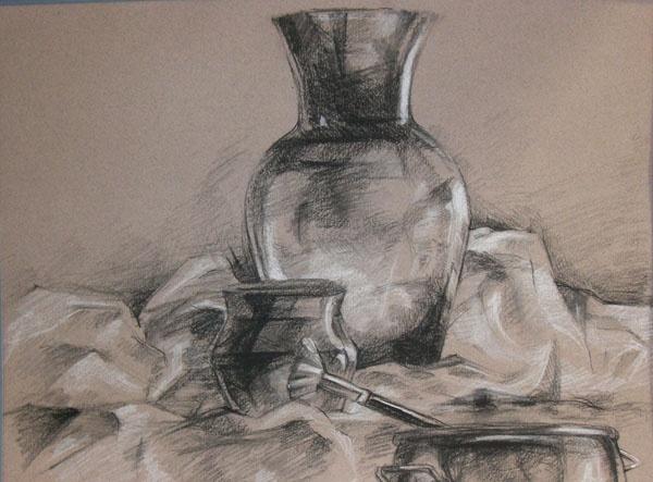 charcoal still life- 11