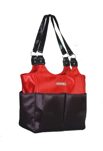 Red Hot Sizzle Gym Bag By SmartGirl Bags Sassy Organized Fashion For The Woman