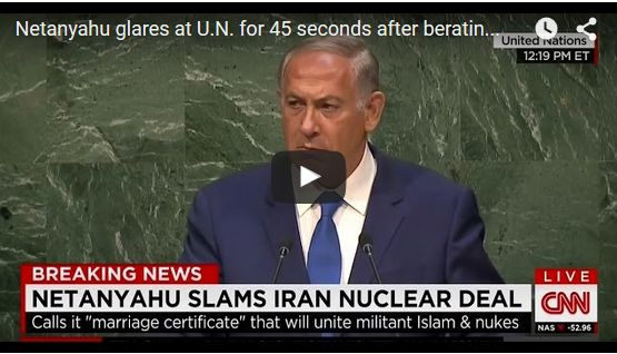 "WHAT A LEADER LOOKS LIKE; Netanyahu Chastises UN With Silence For 45 Seconds Over Their ""Deafening Silence"" On Iran Threats Against Israel"