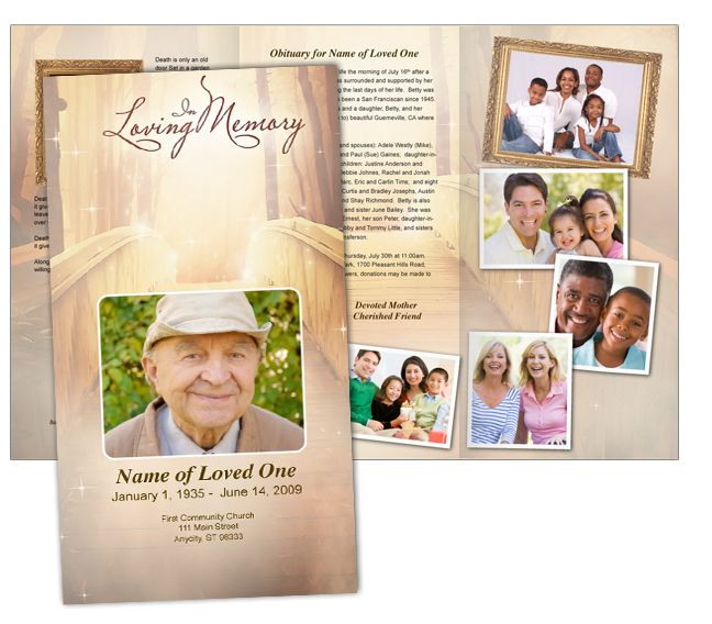 46 best funeral programs images on Pinterest Coding, Computer - free tri fold brochure templates word