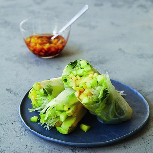 Mango-Avocado Summer Rolls from �100 Best Vegan Recipes�