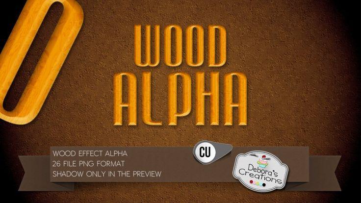 Wood Effect Alpha by Debora's Creations (CU)