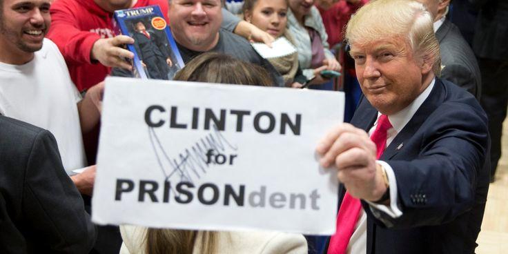 #CLINTON FOR #PRISON #HillaryClinton #Clinton #ClintonScandals #neverhillary #hillno  #imnotwithher #crookedhillary