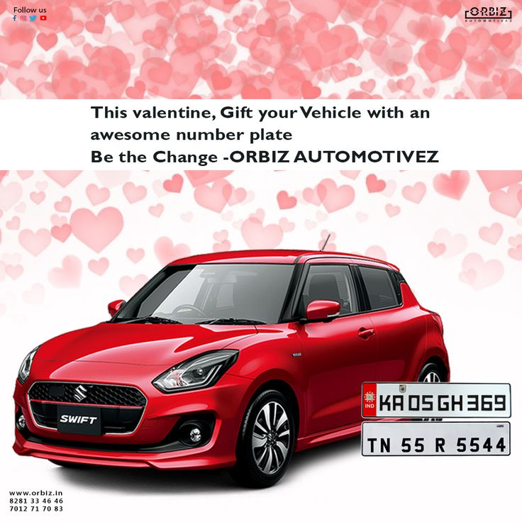 This valentine, Think differently, and love something that will never decieve you. Give your lovely vehicle a facelift with Orbiz number plates. #Orbiz #OrbizAutomotivez #NumberPlates #CarNumberPlates #HighQualityNumberPlates #ValentineGift #PyaarEkDhokaHai