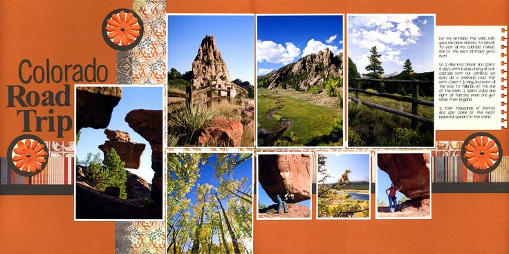 Colorado Road Trip Super layout by @Barbie Schwartz