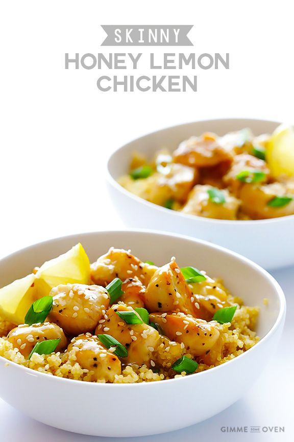 This skinny honey lemon chicken recipe is quick and easy to make, naturally gluten-free, and absolutely delicious!