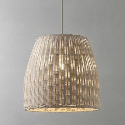 30 best rattan shade images on pinterest lamps light fixtures wicker hanging lamp mozeypictures Gallery