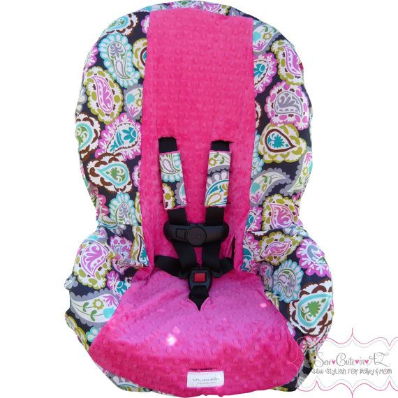 rocco paisley with hot pink toddler carseat cover on etsy kids pinterest cars hot. Black Bedroom Furniture Sets. Home Design Ideas