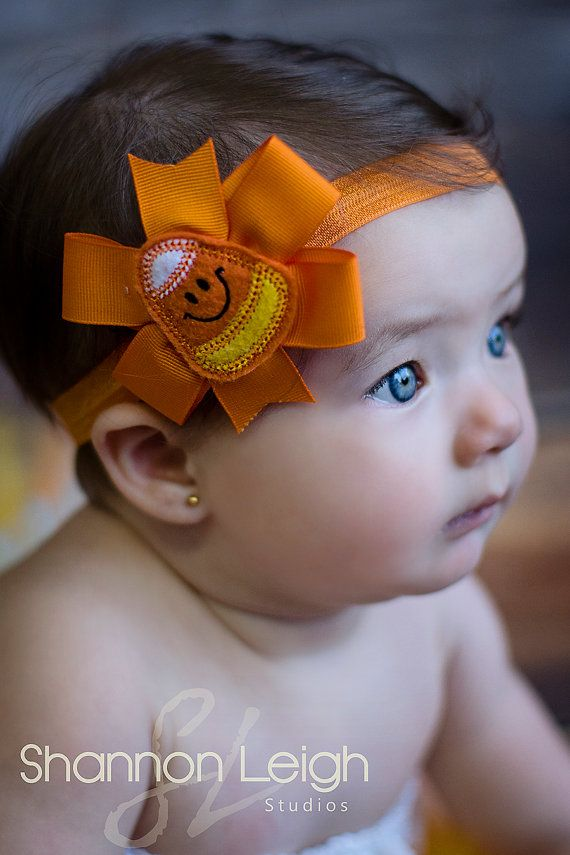 Baby Halloween Headband Candy Corn Bow by ASweetSweetBoutique, $10.00