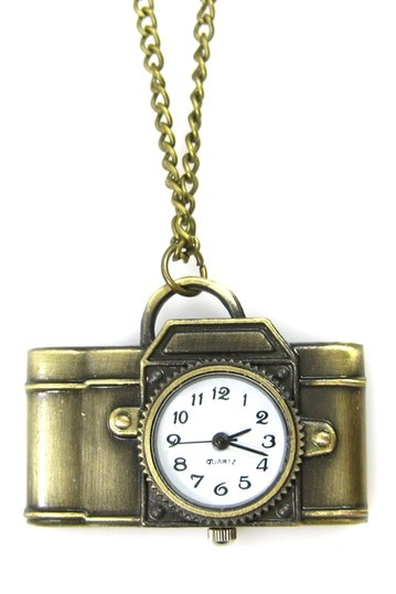 Light Camera Action Pocket Watch Necklace by Eye Candy Los Angeles on @HauteLook