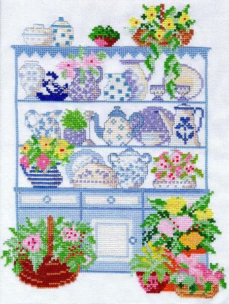 161 best canastas de punto d x images on pinterest cross for Cross stitch kitchen designs