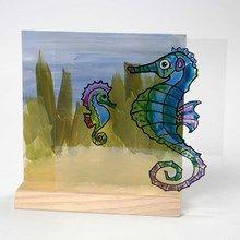 13134 Een aquarium op een 3D tweedelige combinatie lijst (Glas voor / MDF achter)