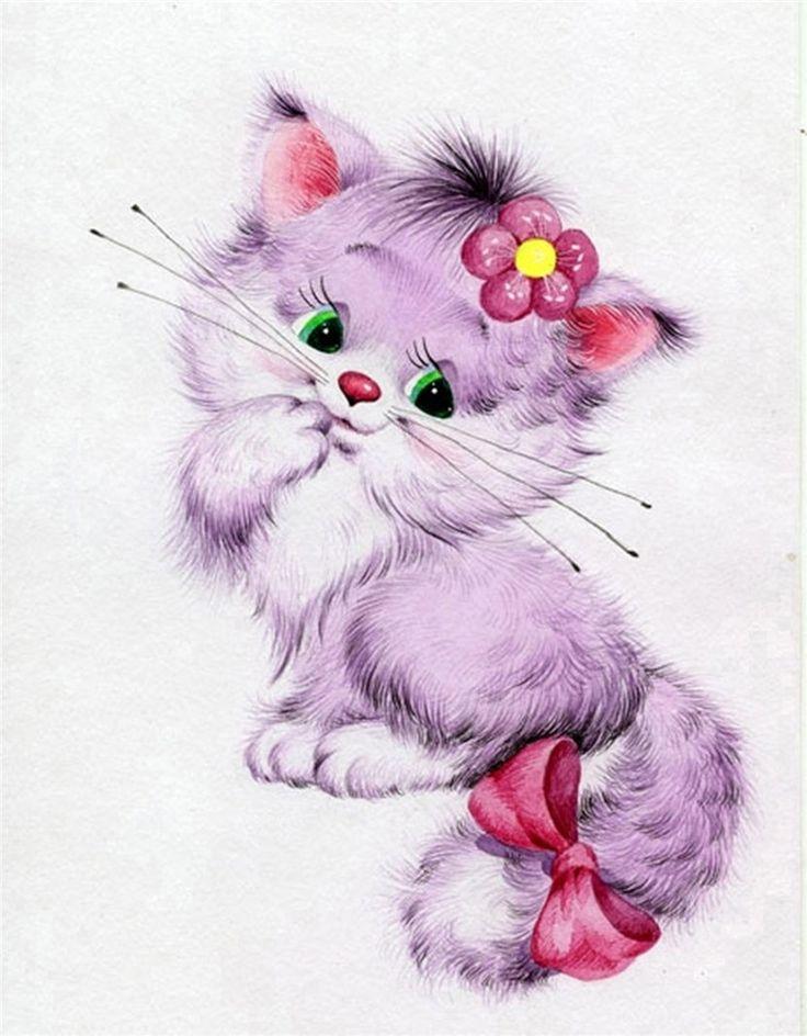 помощью нарисовать прикольные картинки котенок вот