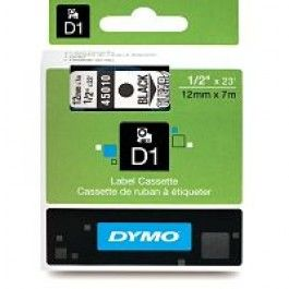 DYMO D1 12mm x 7m Label Printer Tape Black on Clear