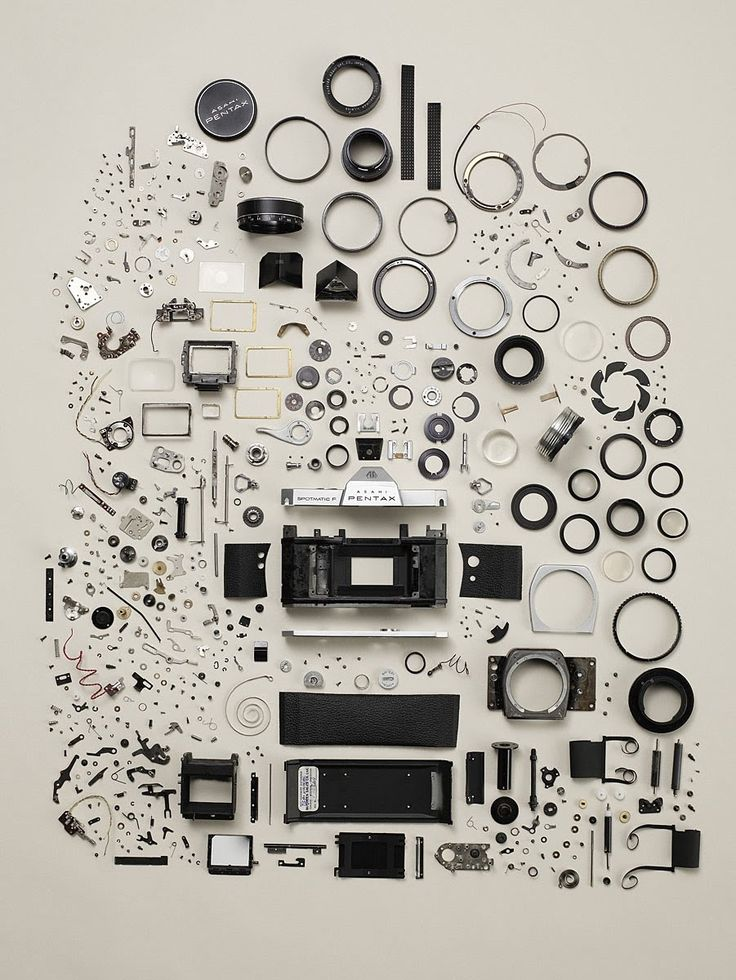 Old Camera, from the Disassembly photo series by Todd McLellan