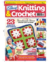 Let's Get Crafting Knit & Crochet #44 - snowman pattern