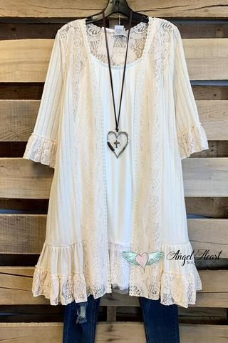AHB EXCLUSIVE: More Than A Feeling Tunic - Cream 13