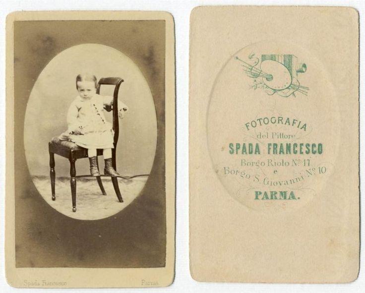 BIMBA CDV 834 Foto F.Gabinetto.Carte da Visite.Albumina.Spada Francesco Parma