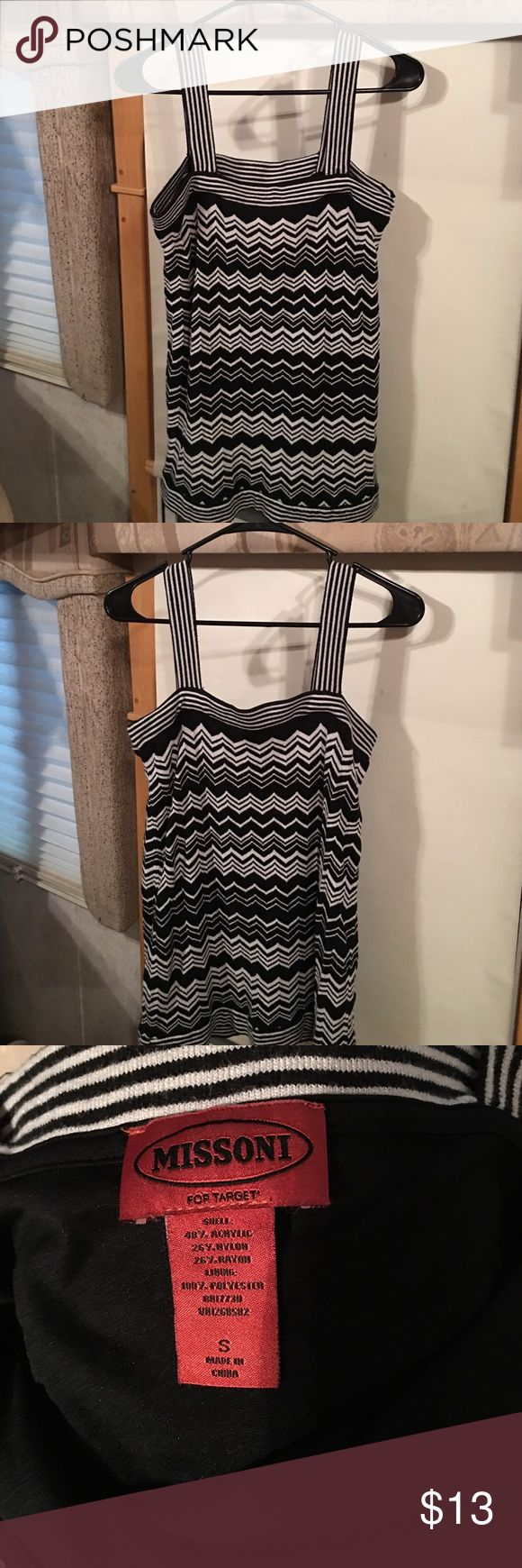 Missoni - For Target 🎯 Zig Zag Chevron top - SM Missoni - For Target 🎯 Zig Zag Chevron top - SM Excellent Condition - No Stains - No Flaws - Fully Lined.  Length - with straps is 27 inches Missoni Tops