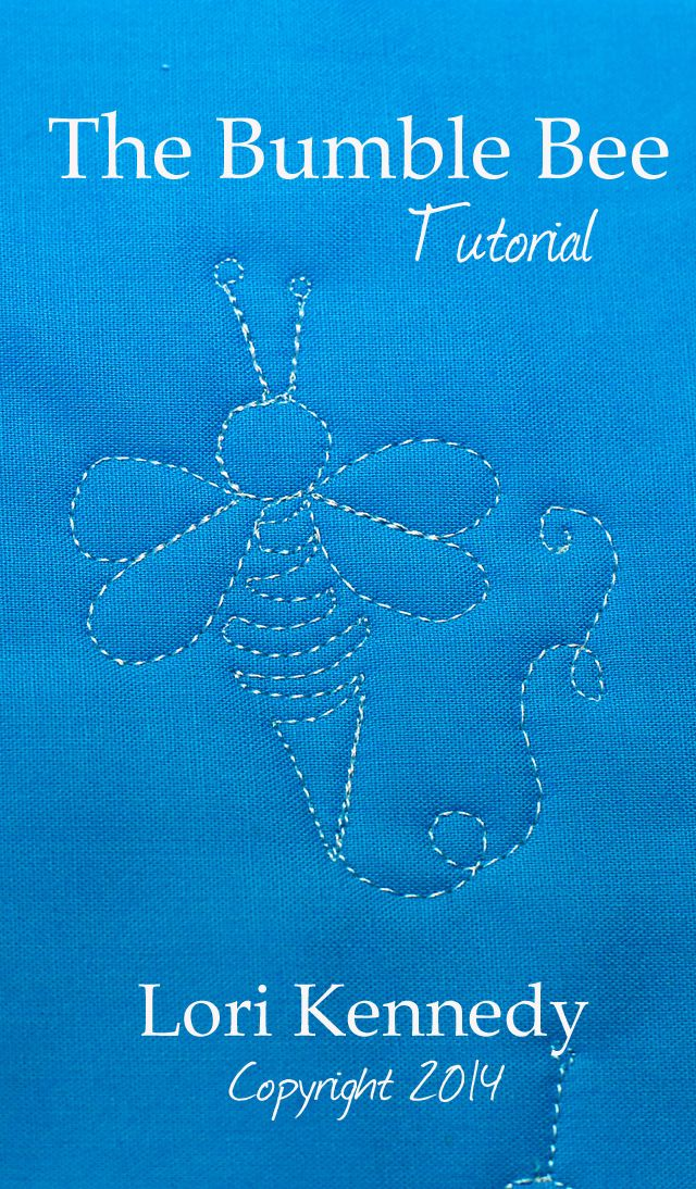 Nearly 100 Free Motion Quilt Tutorials FREE Including this adorable Bumble Bee Lori Kennedy -The Inbox Jaunt